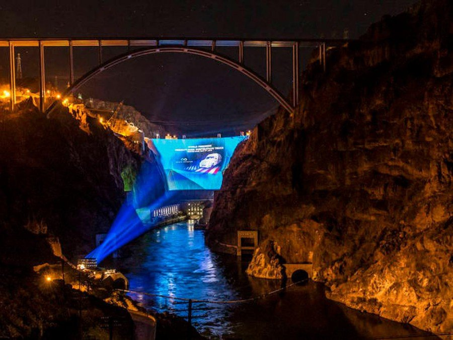 Projection Mapping am Hoover-Damm (Foto: Creative Technology)