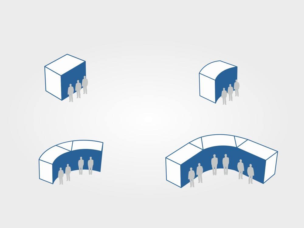 Schema der Segmente der XWALL140 (Grafik: Kiosk Solutions)
