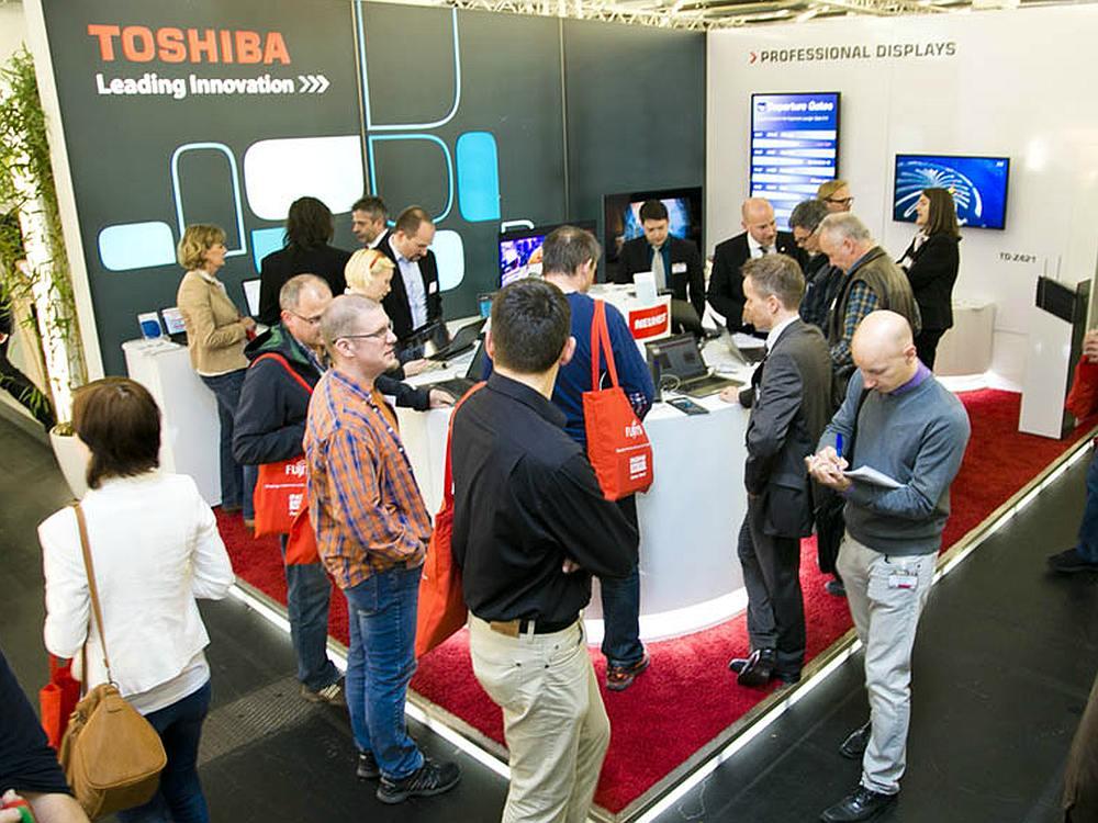 Stand von Toshiba auf der IM.TOP 2014 (Foto: Ingram Micro)