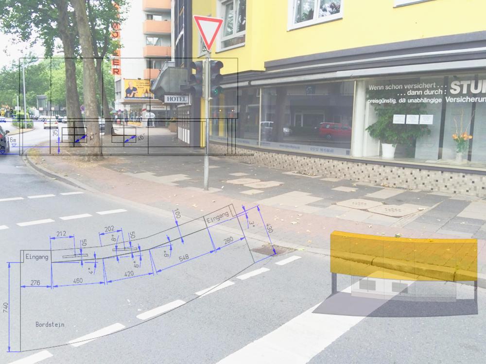 Stein des Anstosses - und Lösung (Foto und Grafik: Signo Display; Montage: invidis)