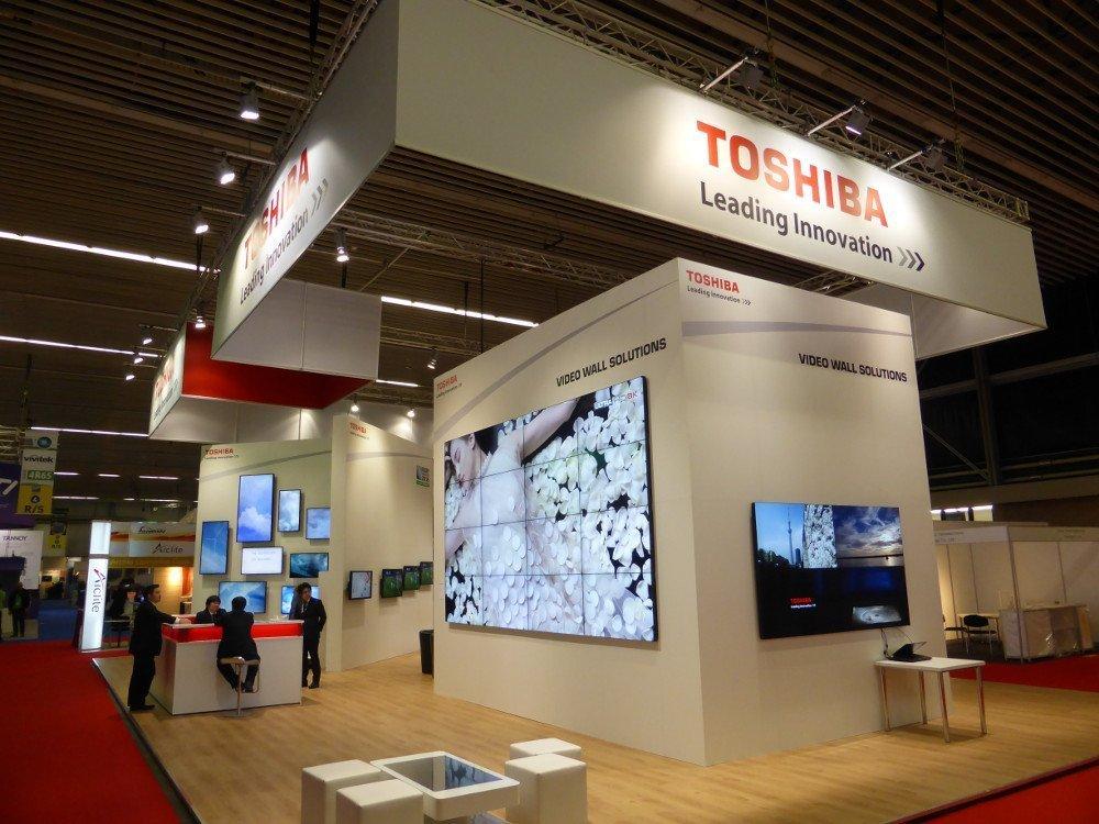 Toshiba-Stand auf der ISE 2015 (Foto: invidis)