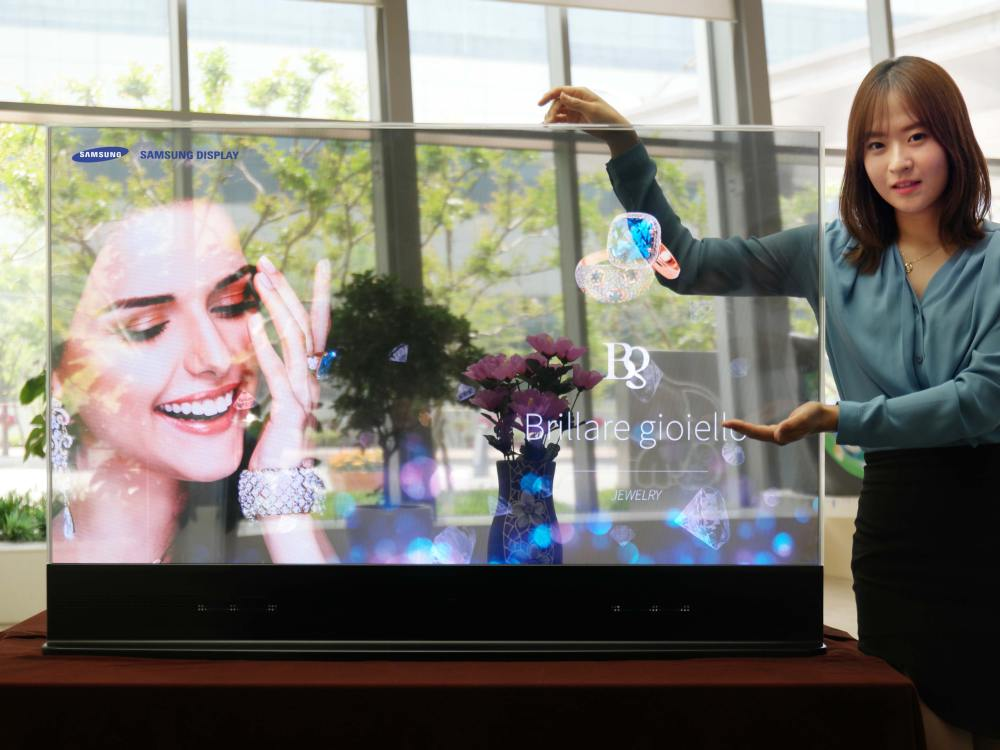 Transparenter OLED-Screen (Foto: Business Wire)