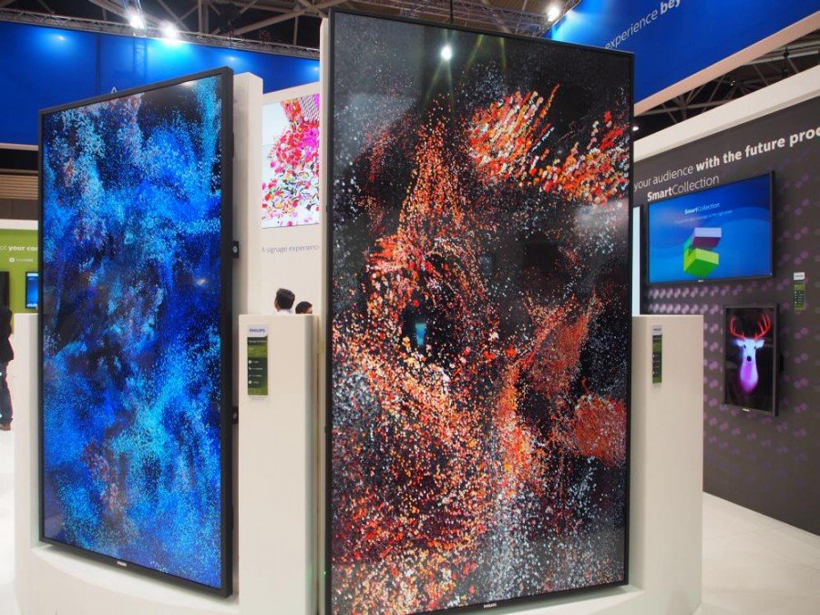 Ultra HD Large Formate von Philips auf der ISE 2015 (Foto: invidis)