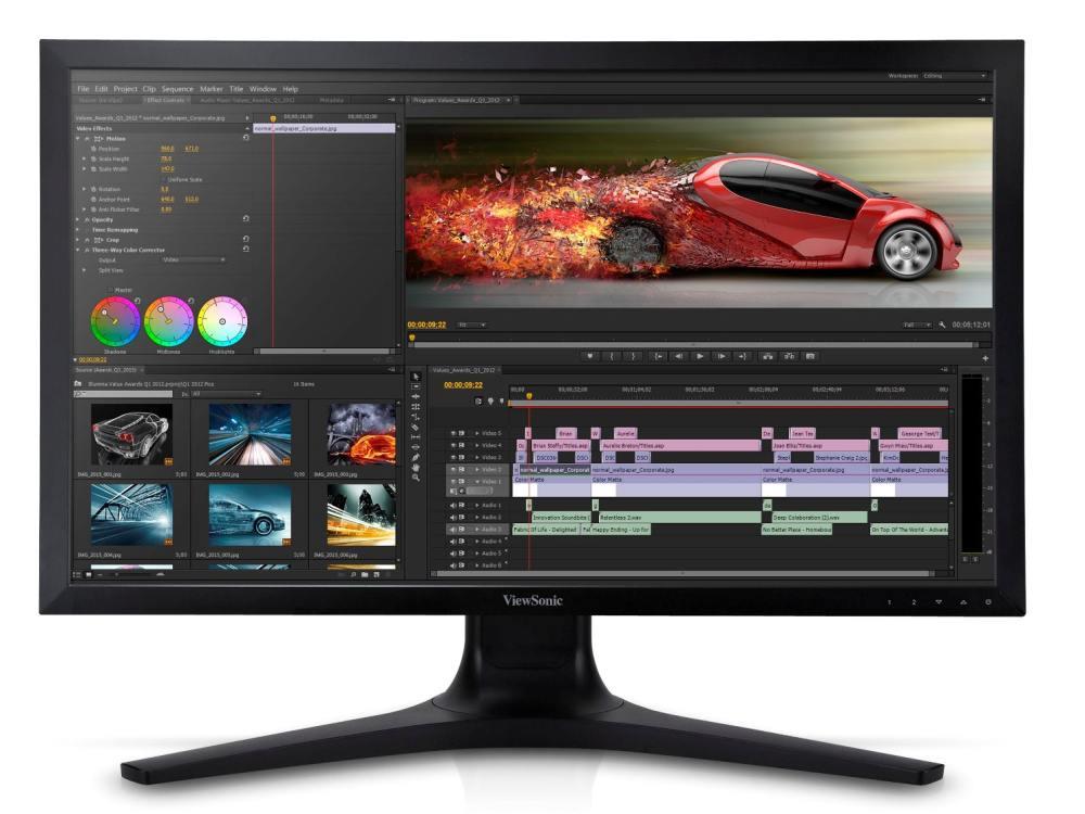 Video-Editing auf einem VP2780-4K (Foto: Viewsonic)