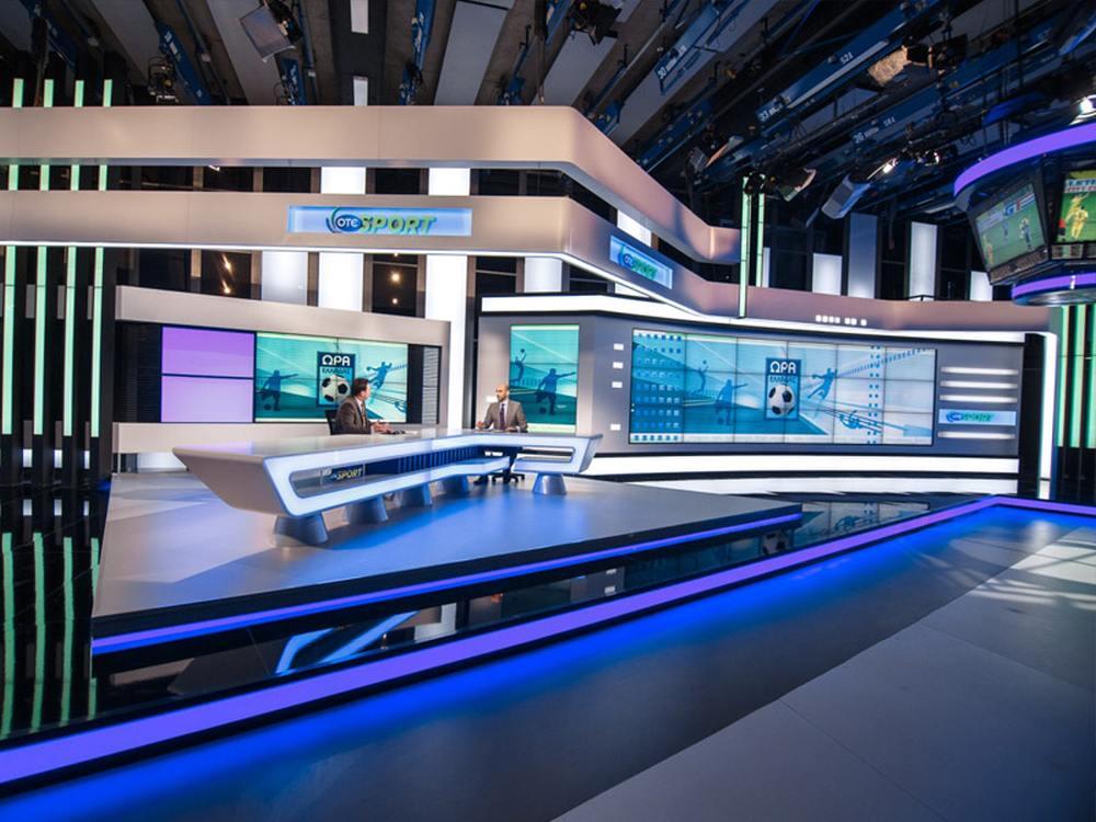 Video Walls im Studio von OTE TV (Foto: eyevis)