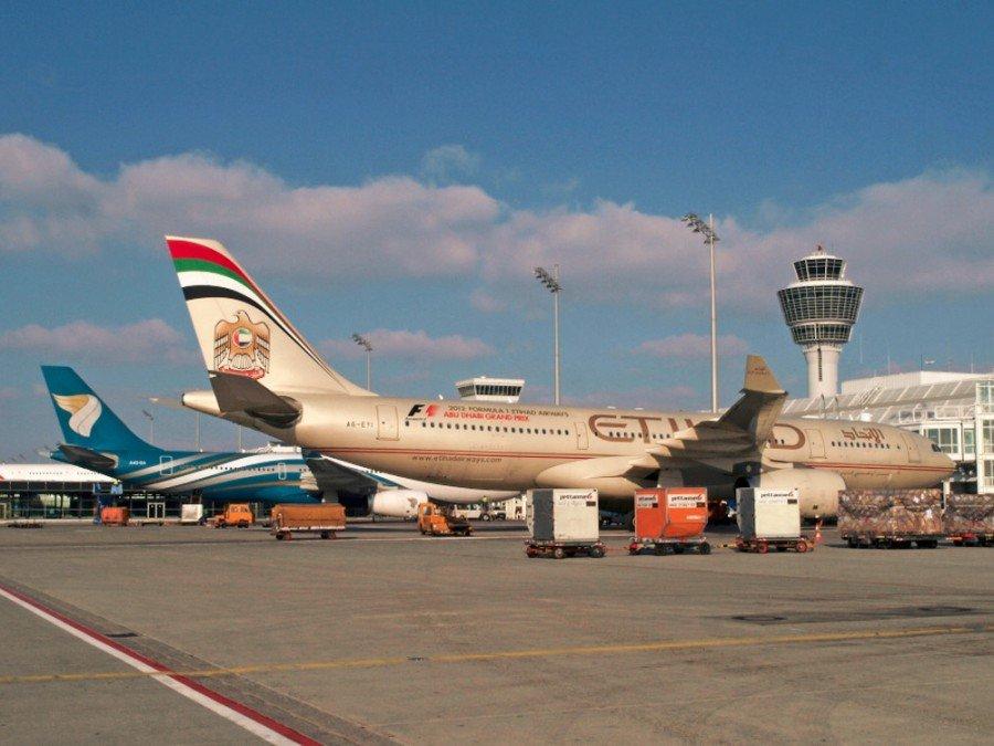 Arabische Fluglinien am Flughafen München (Foto: Werner Hennies/FMG)