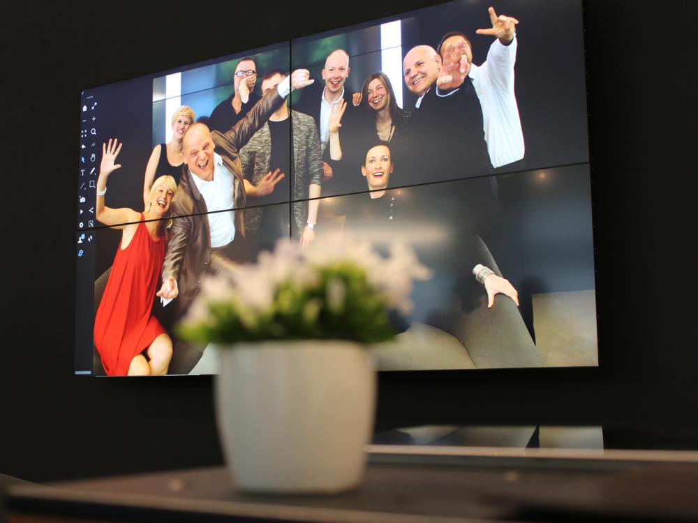 2x2 Video Wall von eyevis bei designfunktion (Foto: eyevis)