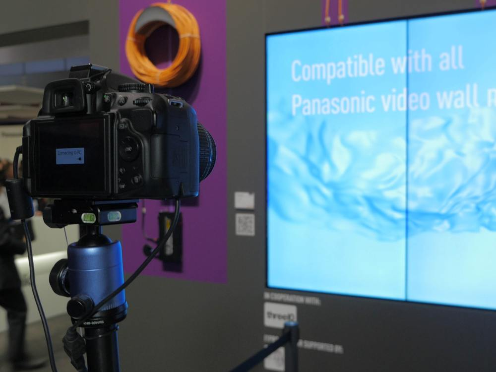 Camera Adjustment einer Video Wall (Foto: Panasonic)