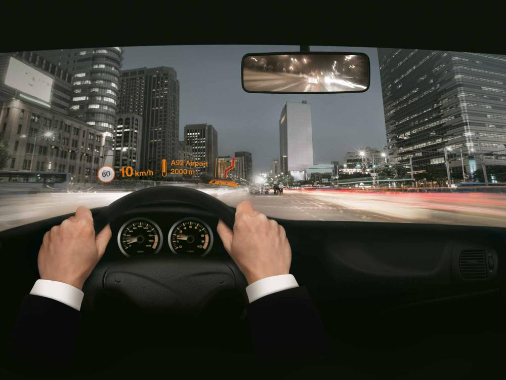Head up-Display in einem Pkw (Foto: Osram)