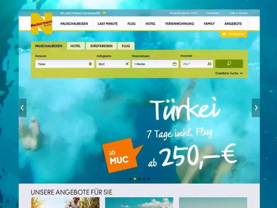 Kombinierte DooH- und Onlinekampagne für Neckermann (Screenshot: Mediascale)
