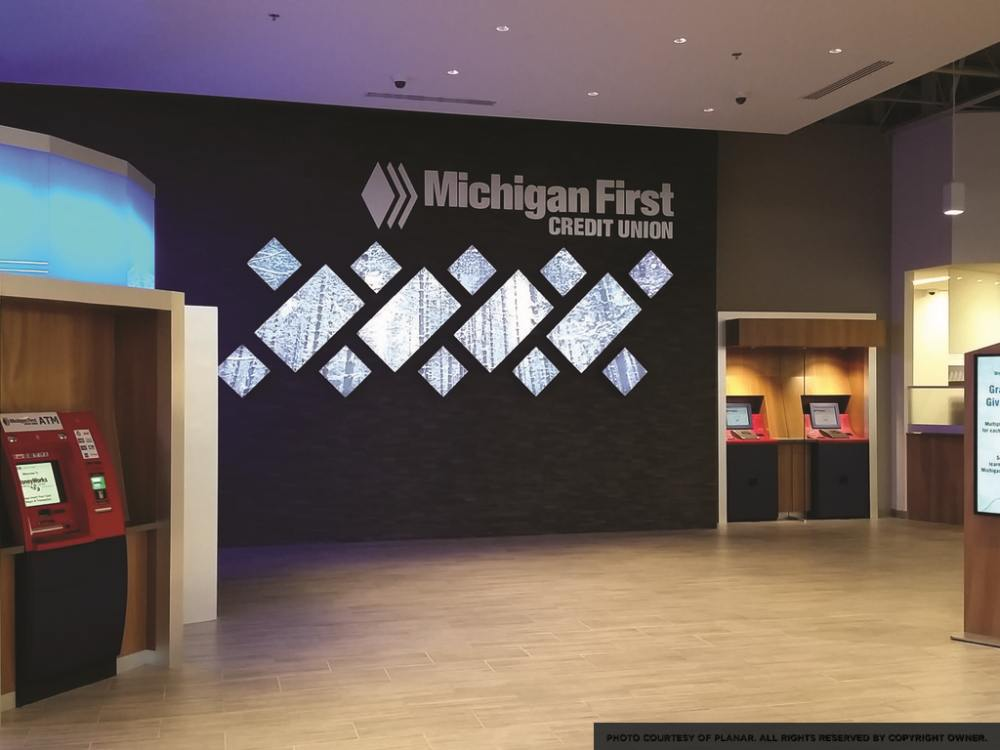 Michigan First - Video Wall in der Eingangshalle (Foto: Planar)