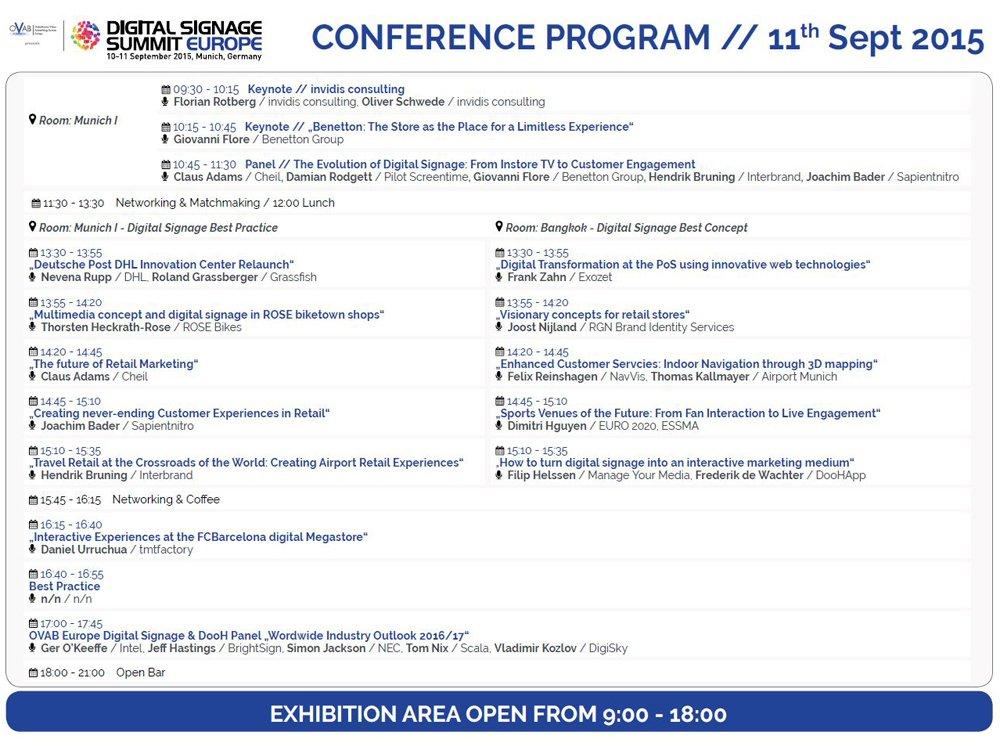 Conference Program of OVAB Digital Signage Summit Europe is now available online (Image: invidis)