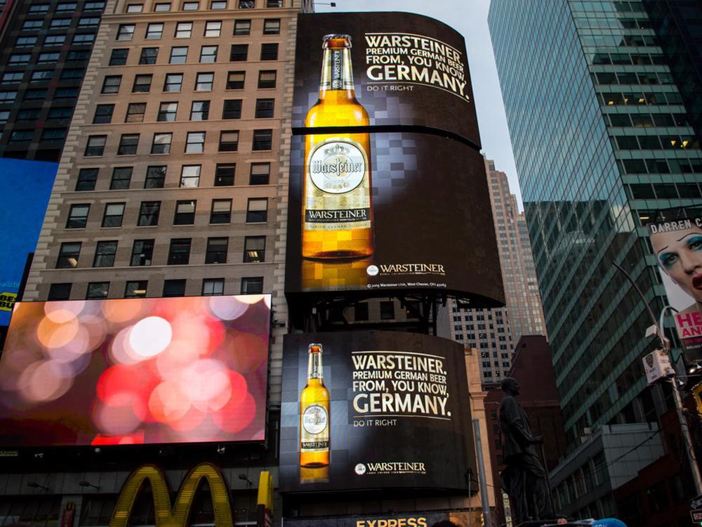 So schaut Becks aus wie schales Bier (Foto: Warsteiner)