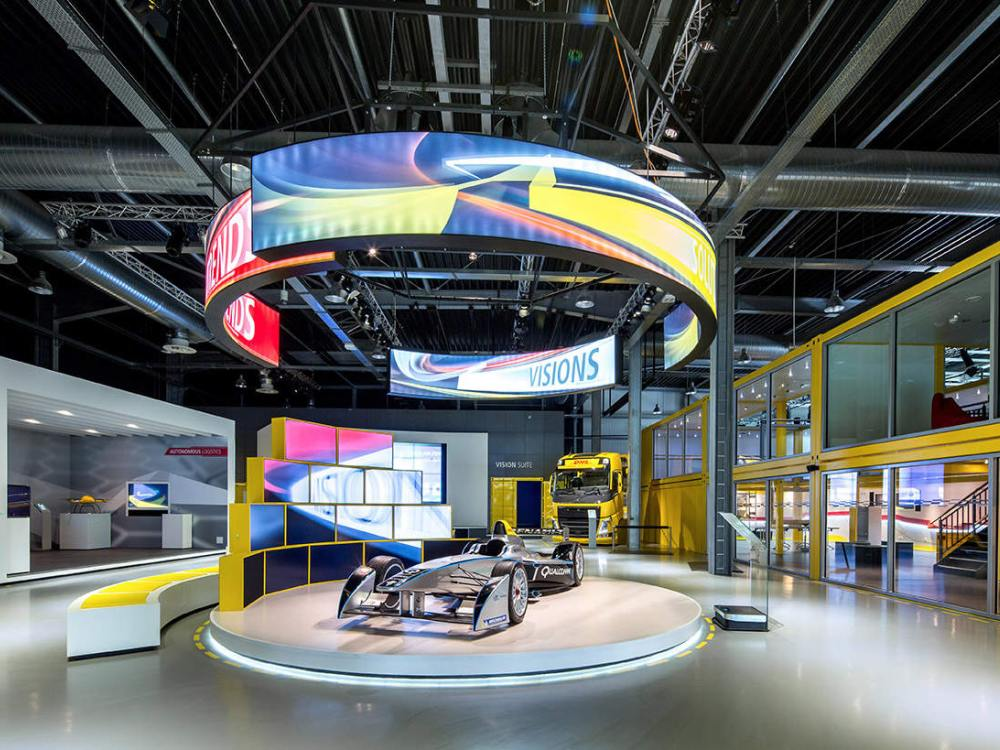 Video Walls und Digital Signage im DHL Innovation Center (Foto: Grassfish)