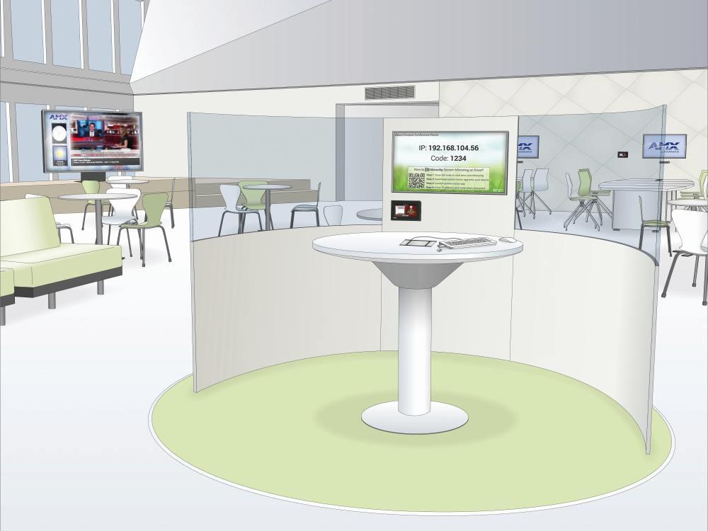 Arbeitsraum-Szenario mit AMX Technologie (Grafik/ Foto: AMX)