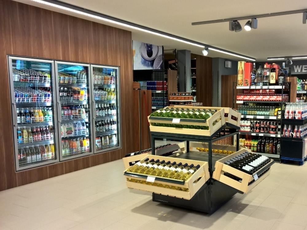 Blick in den Getränkemarkt der Zukunft (Foto: Umdasch)