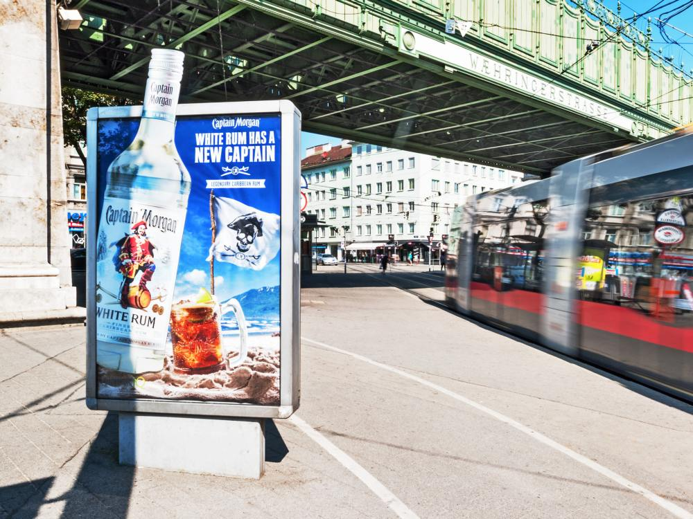 CLP Kampagne für Captain Morgan Rum (Foto: Gewista)