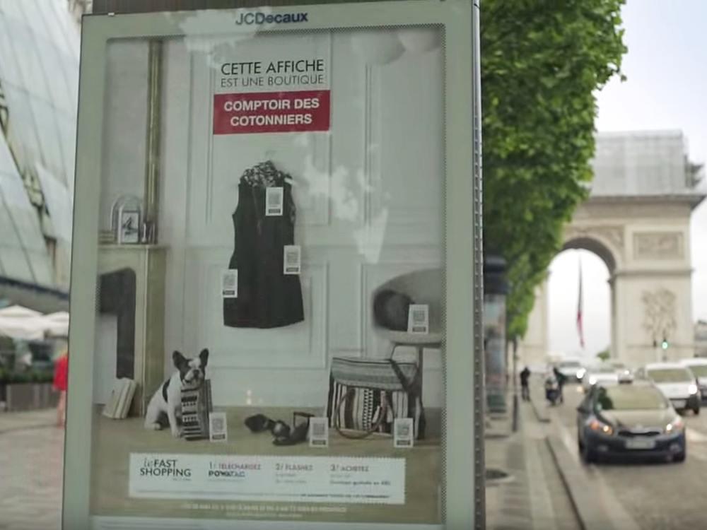 CLP mit PowaTag Kampagne für Comptoir des Cotonniers in Paris (Screenshot: invidis)