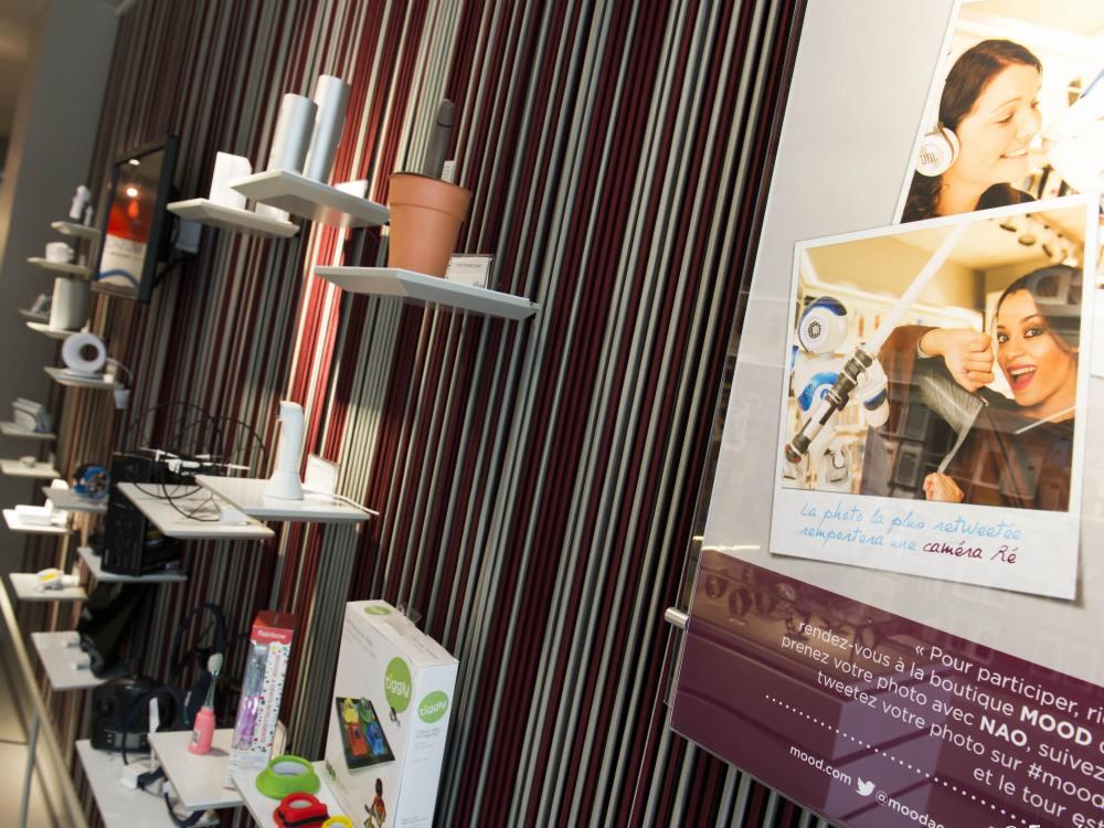 Connected Wall im Shop von Générale de Téléphone (Foto. Eugénie Martinez)
