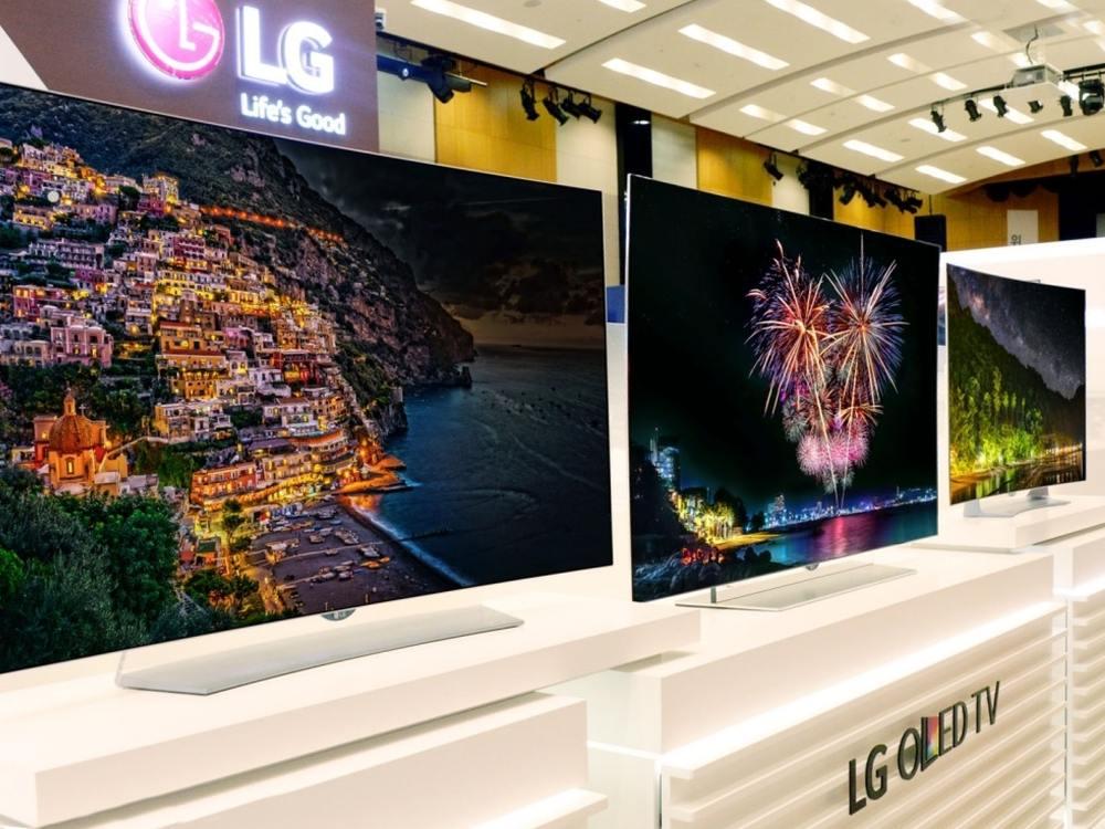 Das LG Oled TV Lineup zur IFA 2015 (Foto: LG)
