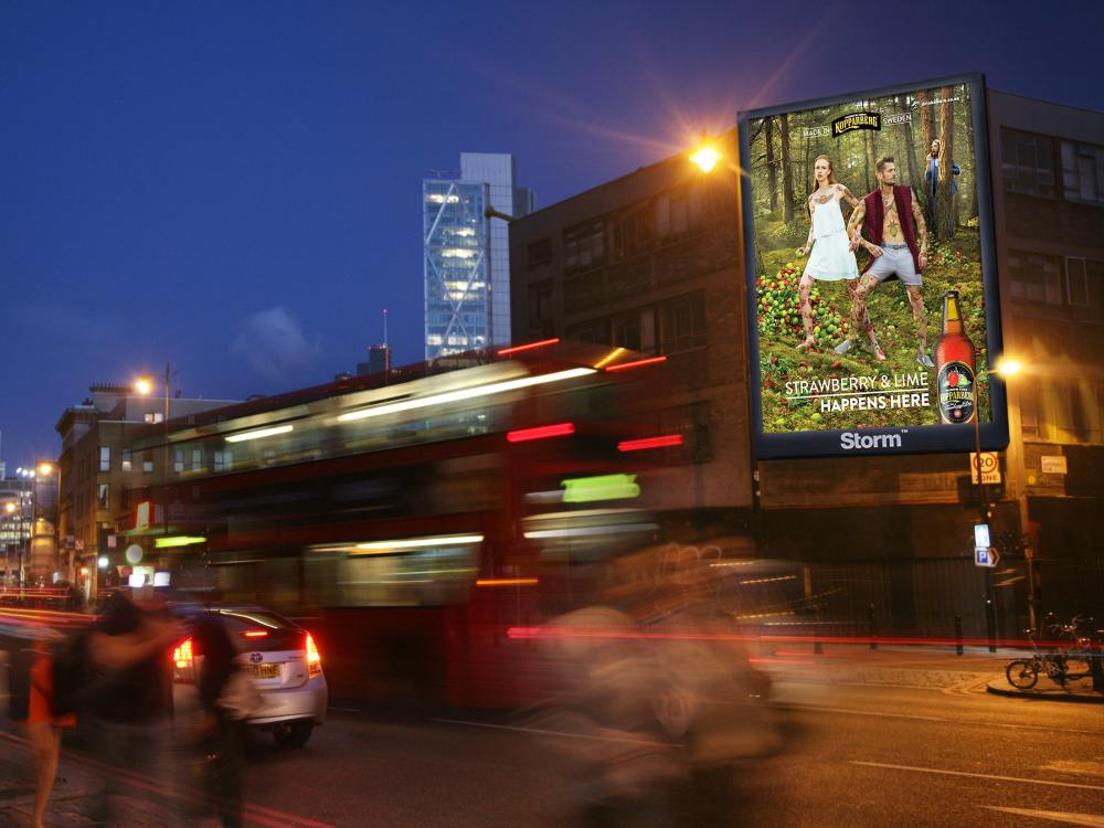 "DooH-Netz ""Storm"" - Geplanter Standort Shoreditch (Foto: Clear Channel UK)"