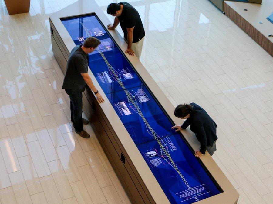 Interaktive Installation mit Planar Screens bei Baker Hughes in Texas (Foto: Planar)