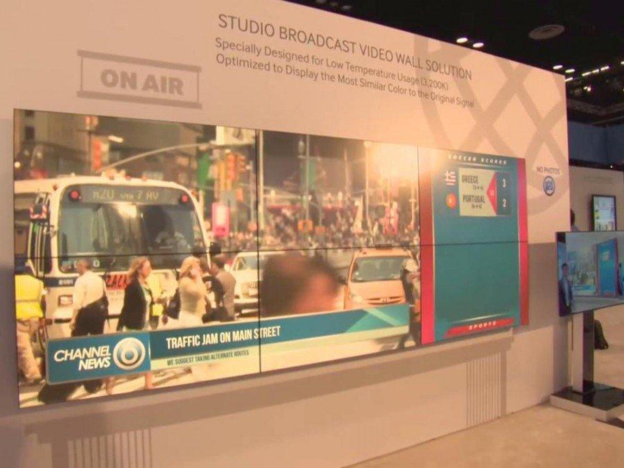 Neue Video Wall Screens für den Einsatz in TV Studios (Screenshot: invidis)