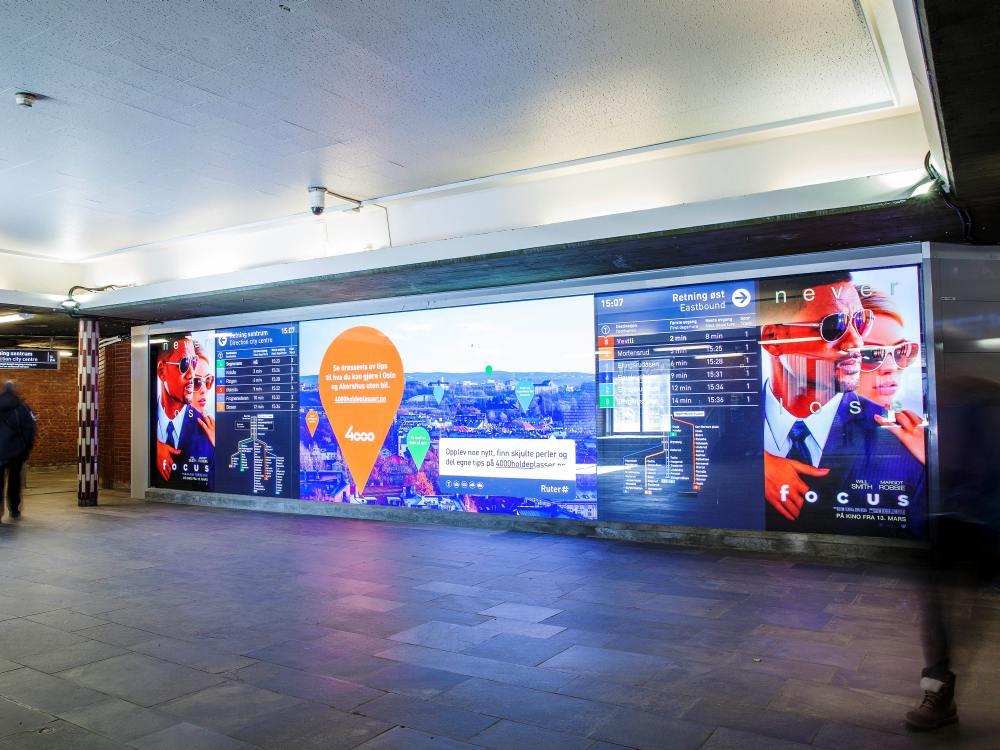 Neuer LED Screen in Tøyen (Foto: Absen)
