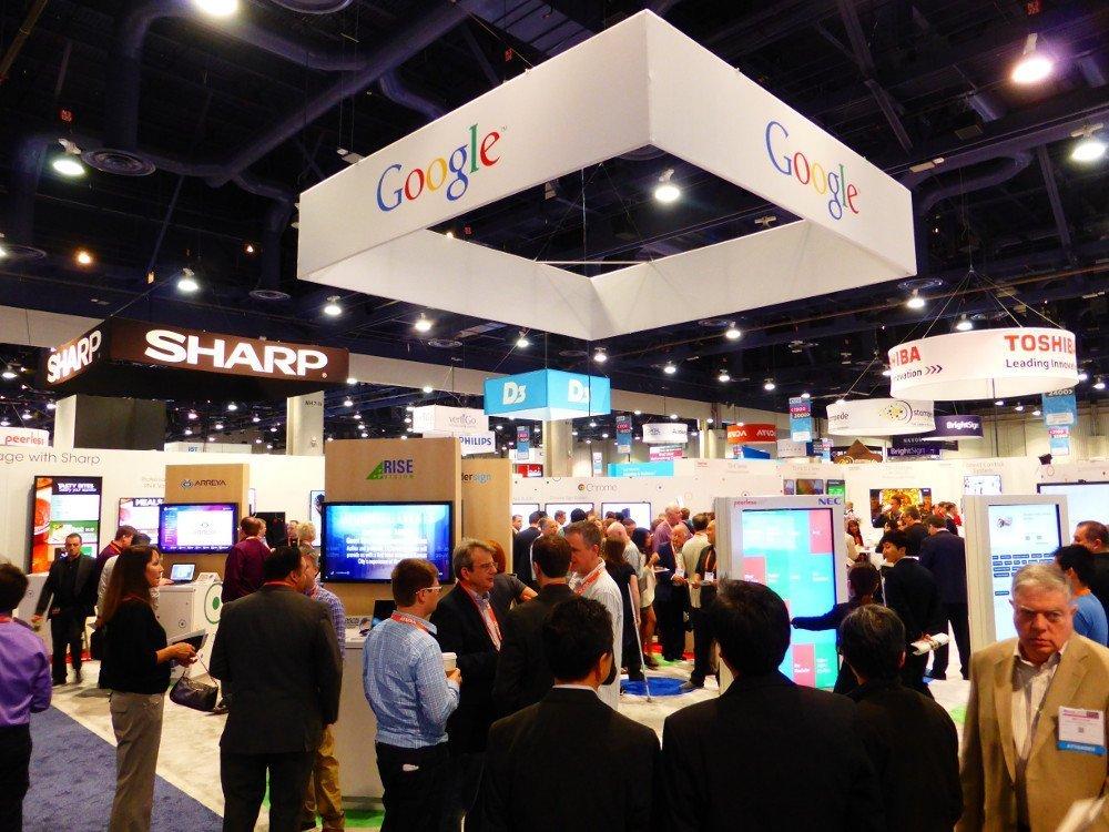 Google launches its B2B digital signage solution at OVAB DSS Europe 2015 (Image: invidis)