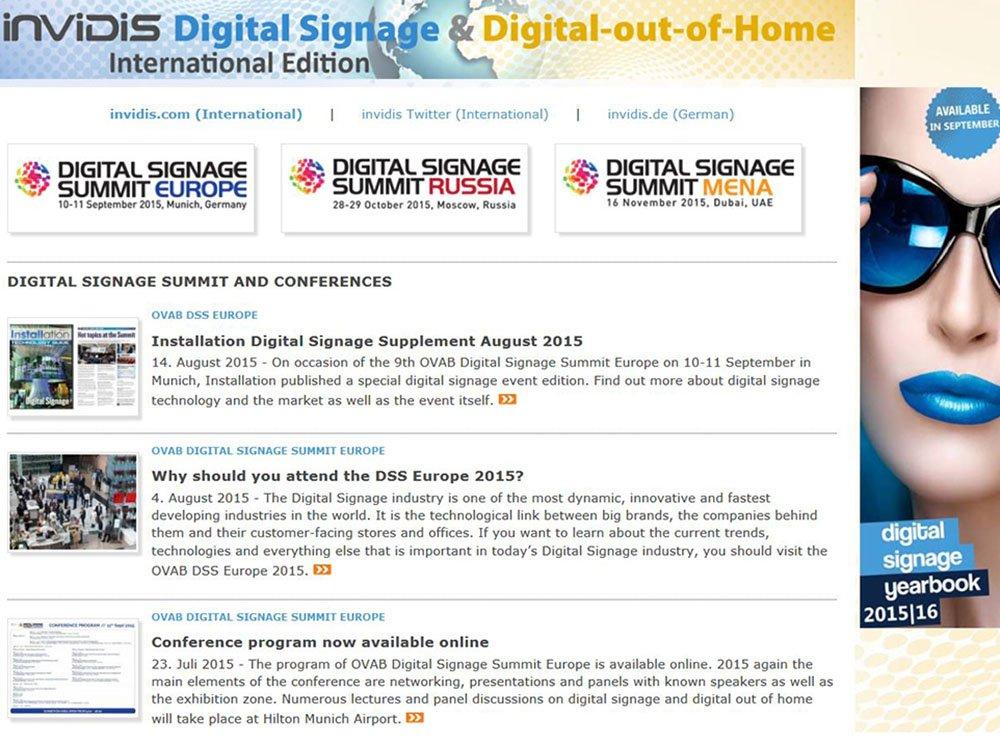 OVAB Digital Signage Summit - Overview event news (Image: invidis)