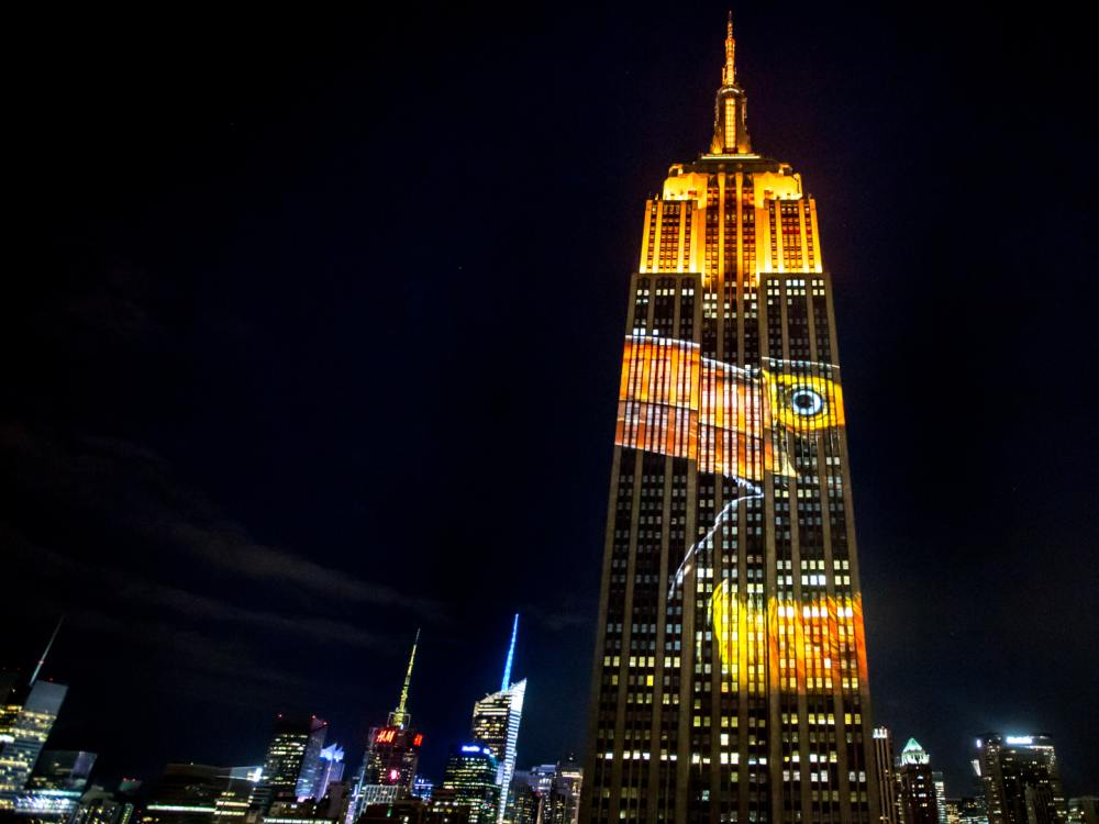 Racing Extinction - Projection Mapping auf dem Empire States Building (Fot: Obscura Digital)
