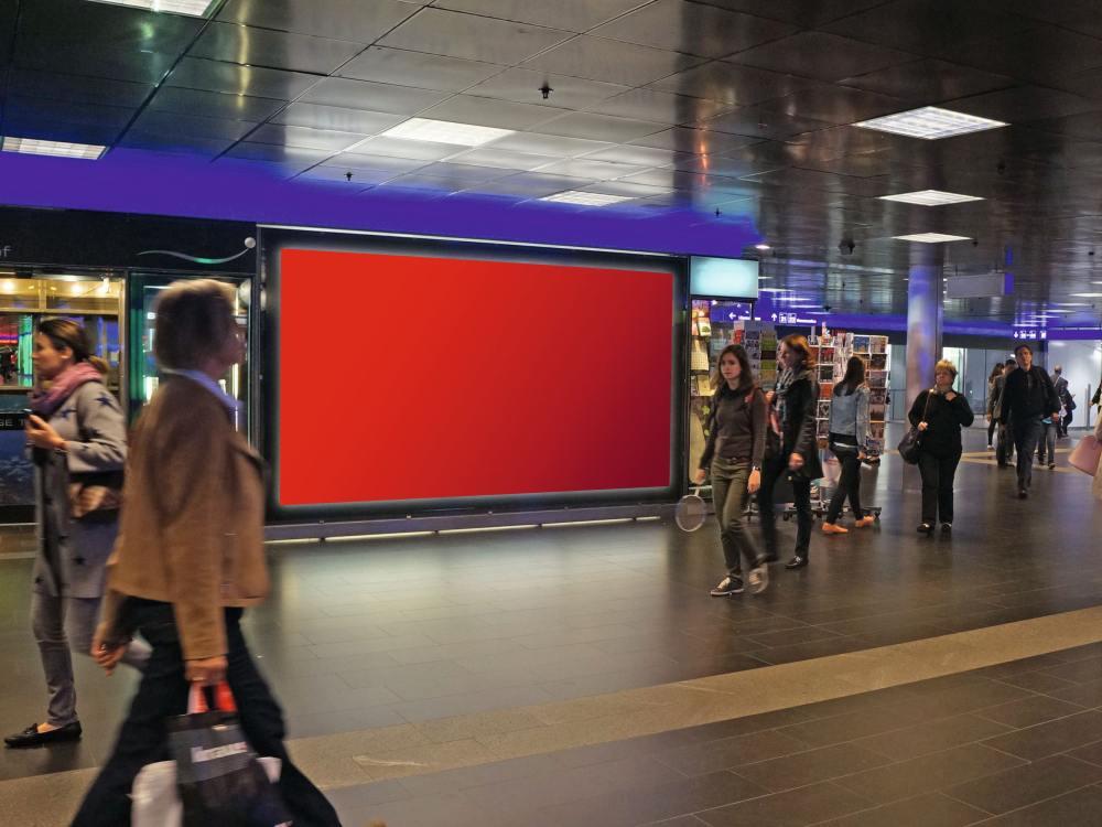 ShopVille - Im kommenden Jahr wird hier ein City eBoard stehen (Foto/ Rendering: APG SGA)