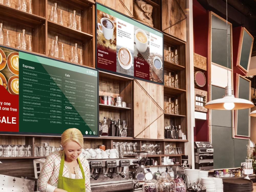 Smart Signage Screen ST550K im Einsatz als Digital Menu Board (Foto: BenQ)