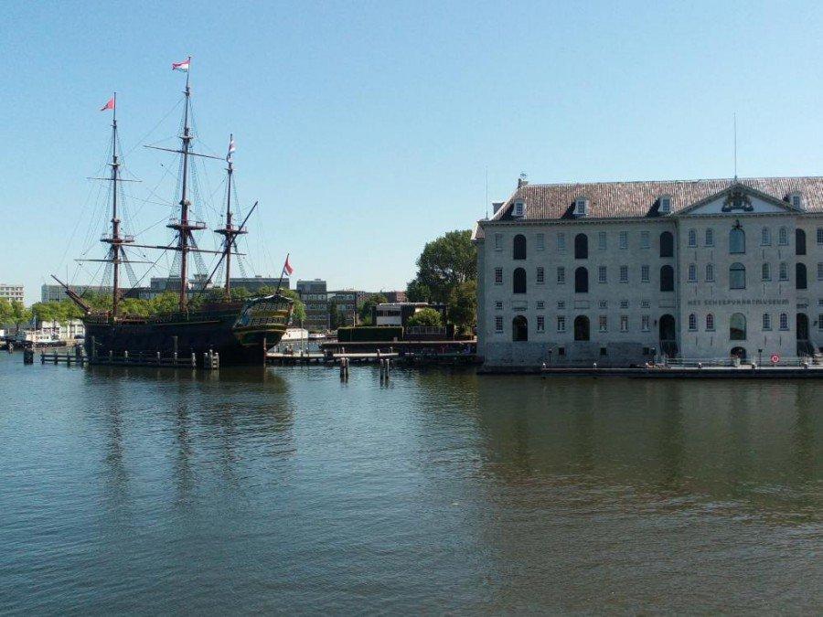 Spielwiese für Beacons - Alter Hafen in Amsterdam (Foto: Amsterdam Beacon Mile)