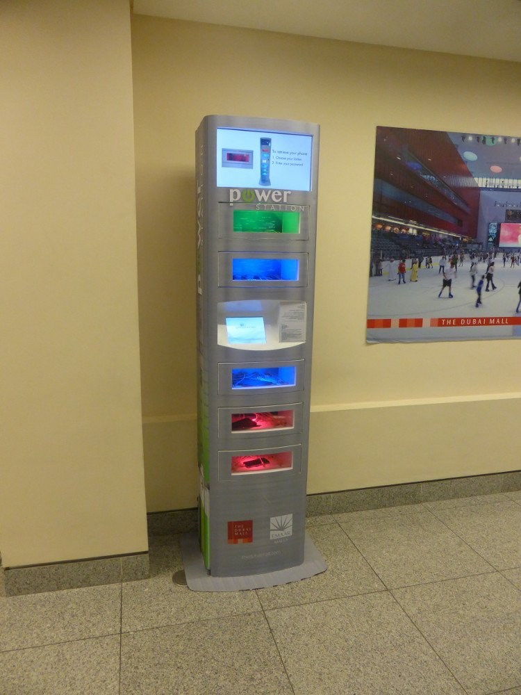 Charging Station at Dubai Mall (Photo: invidis)
