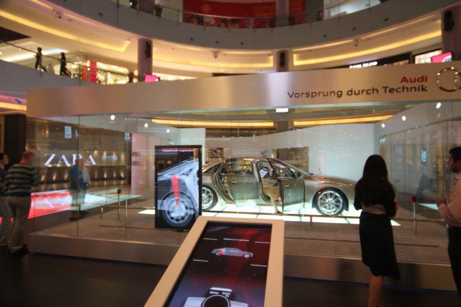 Audi's x-ray concept at Dubai Mall (Photo: invidis)