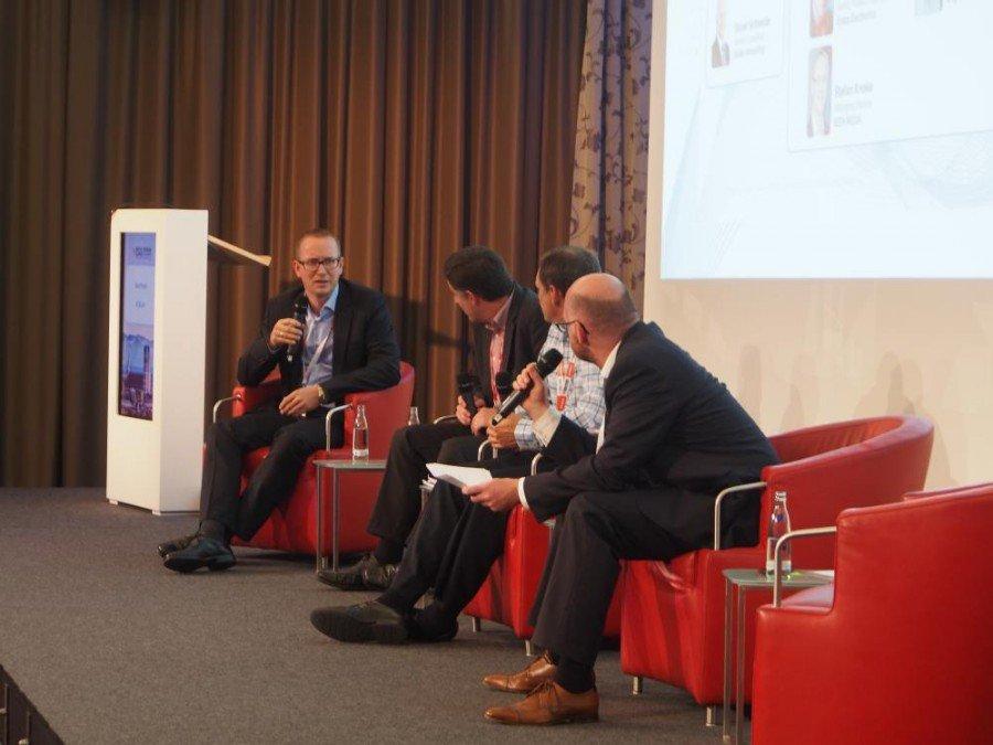 4K Panel-Diskussion mit (v.l.n.r.): Stefan Knoke, Christopher Parker, Jeff Hastings und Oliver Schwede (Foto: invidis)
