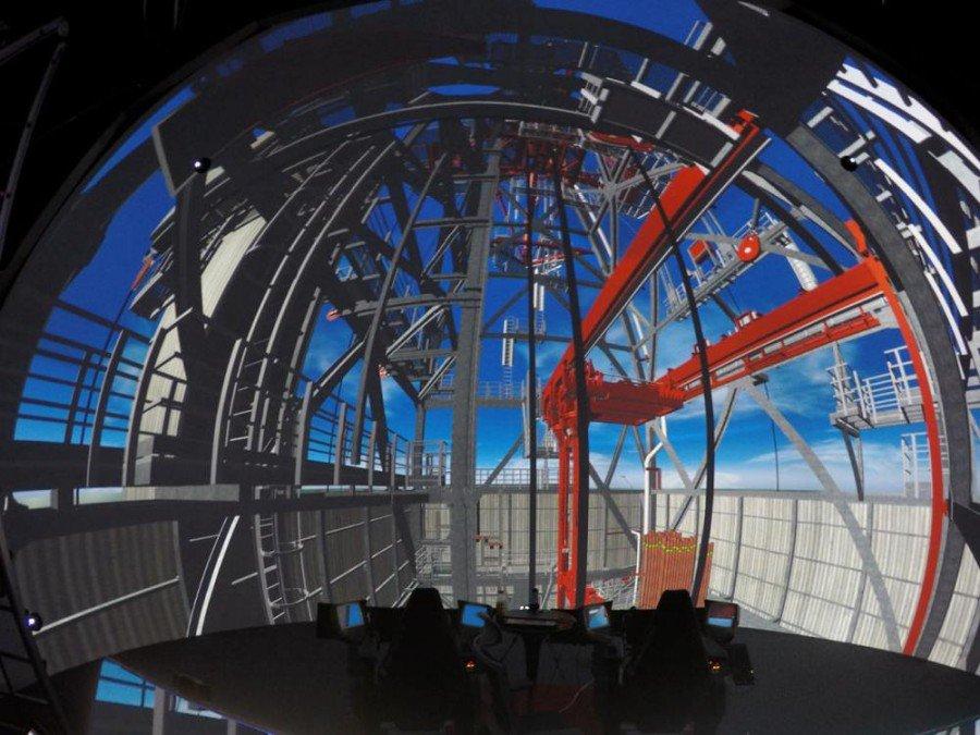Dome Simulator bei MHWirth in Südkorea (Foto: Cyviz)