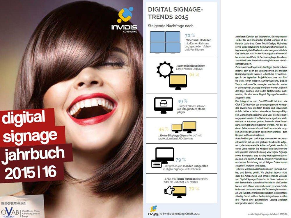 """Das """"invidis Digital Signage Jahrbuch 2015/16"""" ist jetzt online erhältlich (Bild: invidis)"""