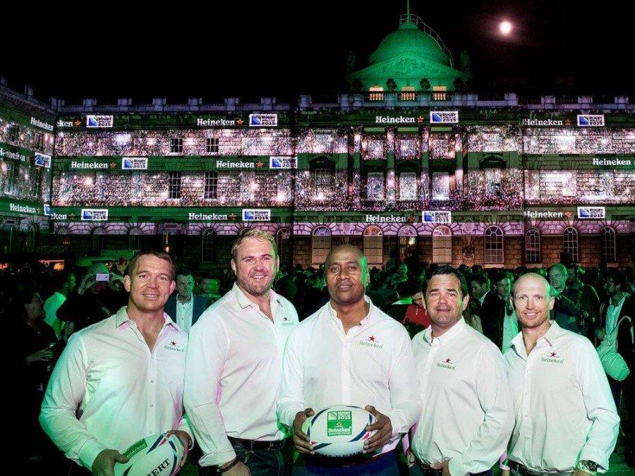 Heineken Testimonials Jonah Lomu, Will Carling, John Smit, Matt Dawson und Scott Quinnell (Foto: Heineken)