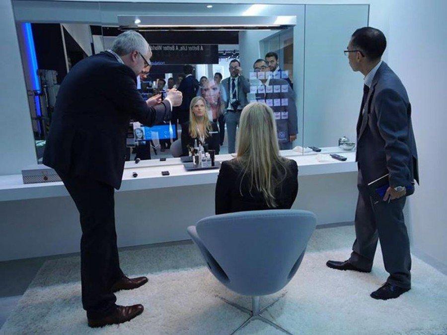 Interactive Mirror - Prototyp auf der IFA 2015 (Foto: Panasonic)