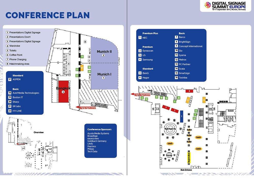 Das Programmheft bietet Überblick über alle Veranstaltungen und Sponsoren des OVAB DSS Europe 2015 (Grafik: invidis)