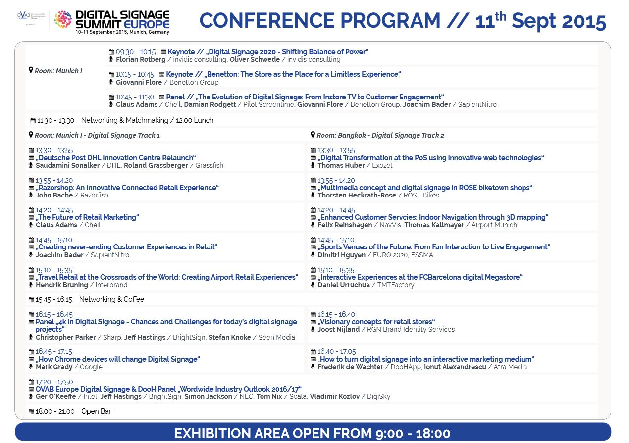 OVAB DSS Europe 2015 - Programm Update (Bild: invidis)