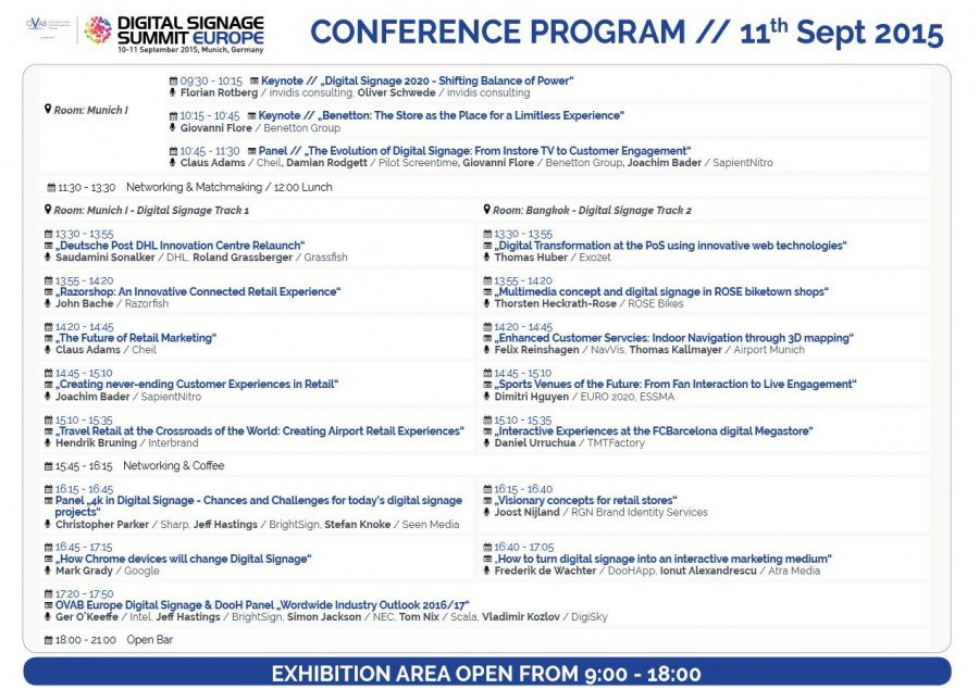 OVAB DSS Europe 2015 updated conference programme (Image: invidis)