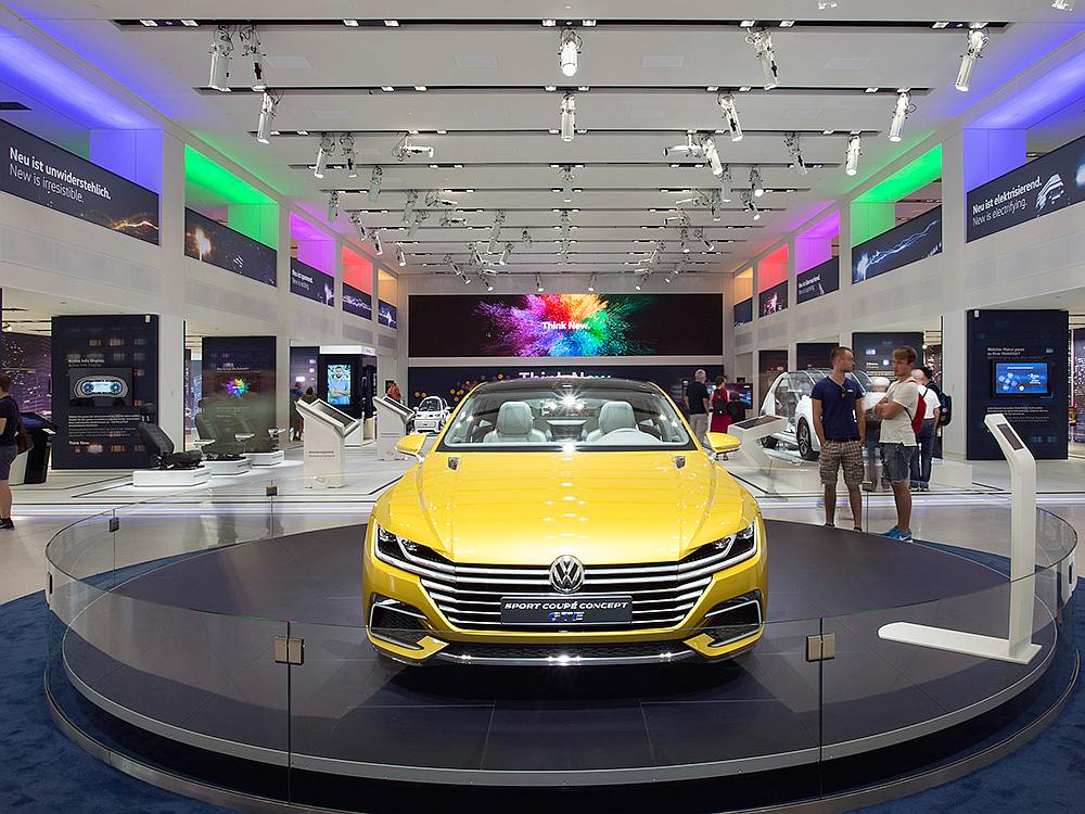 Plug-In Hybrid Sport Coupé Concept GTE im im DRIVE.Volkswagen Group Forum (Foto: Volkswagen)