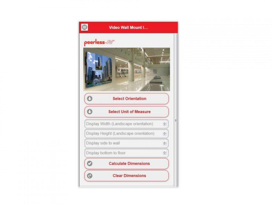 Soll den Installationsalltag erleichtern: neue Video Wall App von Peerless-AV (Foto: Peerless-AV)