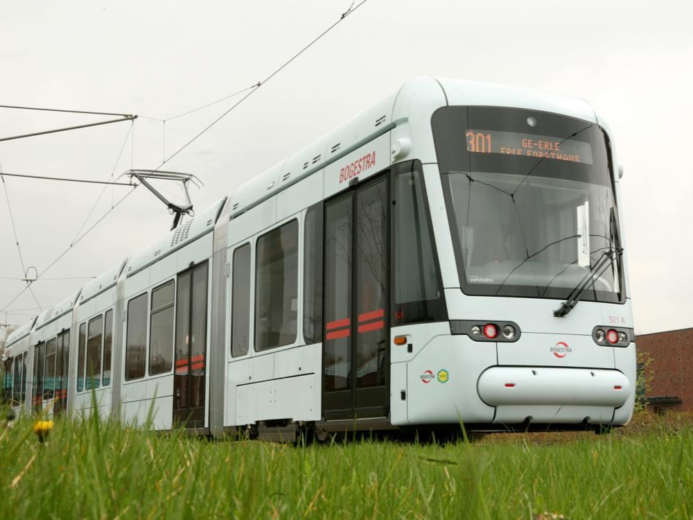 Moderne Straßenbahn in Gelsenkirchen (Foto: BOGESTRA)