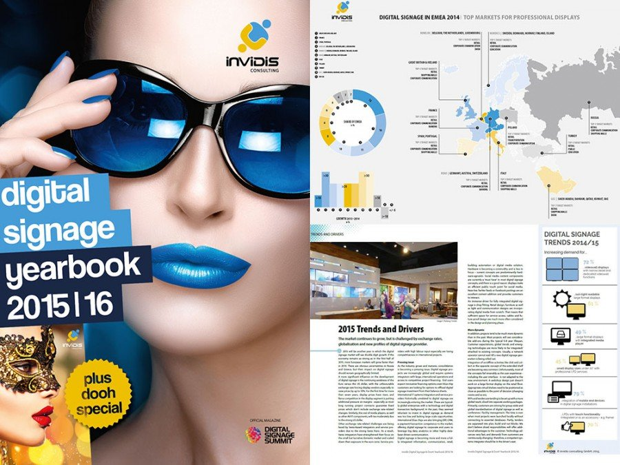 invidis digital signage yearbook 2015/16 is now available online (Image: invidis)