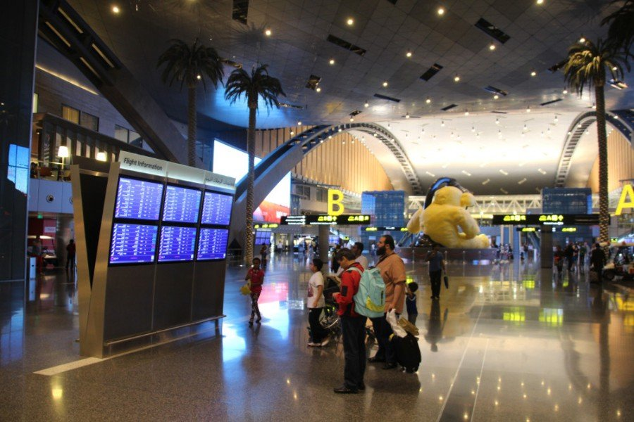 Doha Airport - fresh approach to FIDS (Photo: invidis)