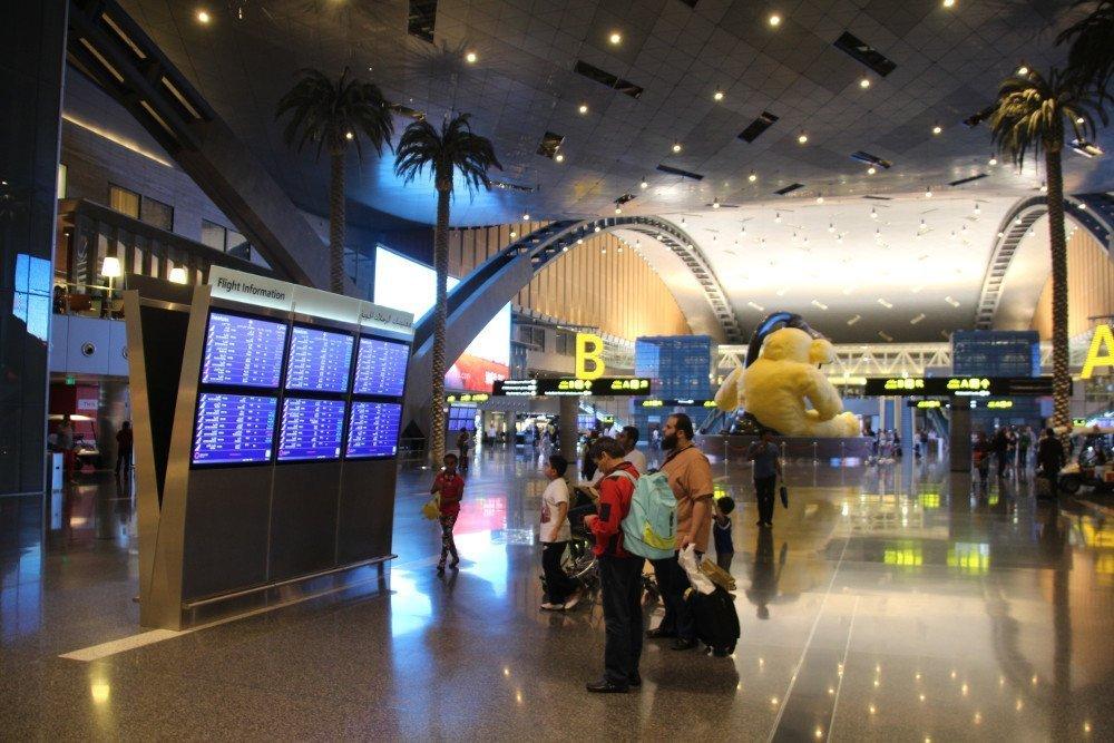 Doha Airport - fresh approach to FIDS (Photo: invidis)
